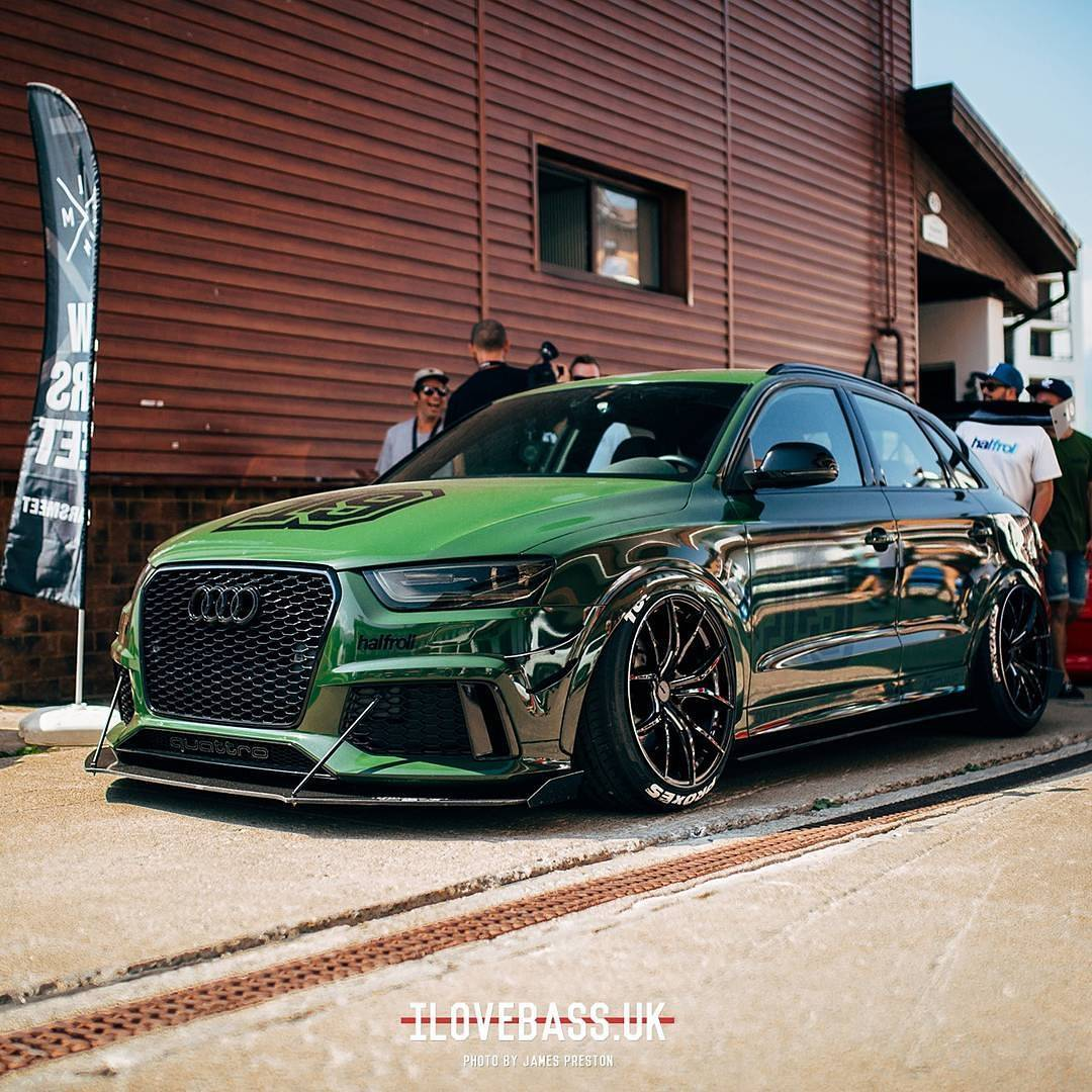 "Lowered Audi RS Q3 ""Russian Hulk"" Has Insane Wing"