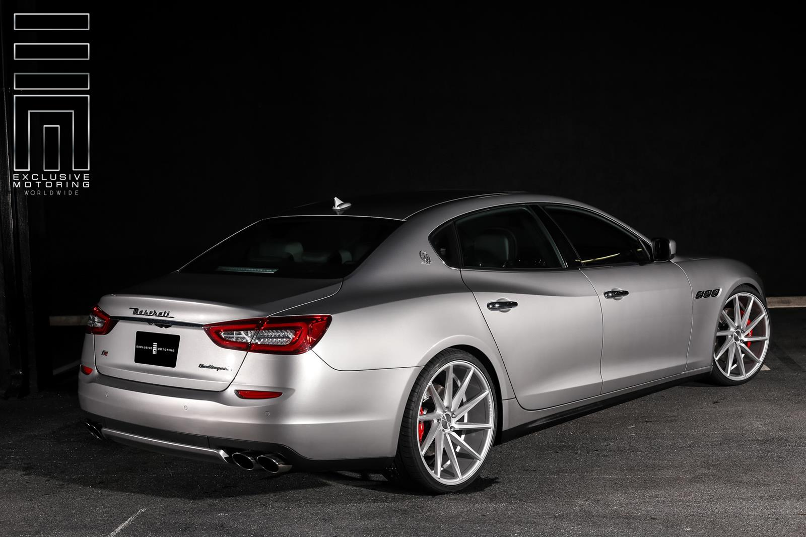 lowered maserati quattroporte proves why the right wheels