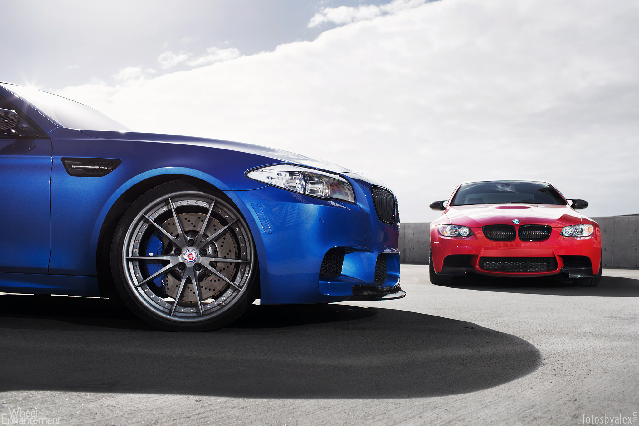 M Brothers Pose Together: BMW M3 and M5 Riding on HRE ...