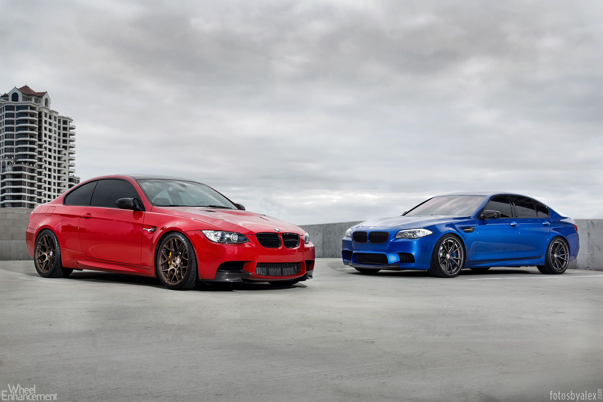 M Brothers Pose Together Bmw M3 And M5 Riding On Hre
