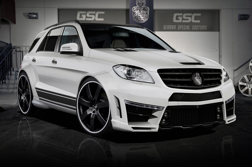 M class typhoon wide body kit by german special customs for Mercedes benz ml accessories