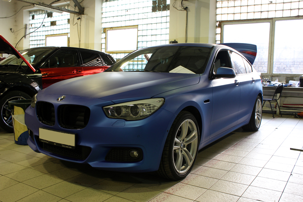 Used 2016 Nissan Maxima >> M Sport BMW 5 Series GT Gets Frozen Blue Wrap - autoevolution