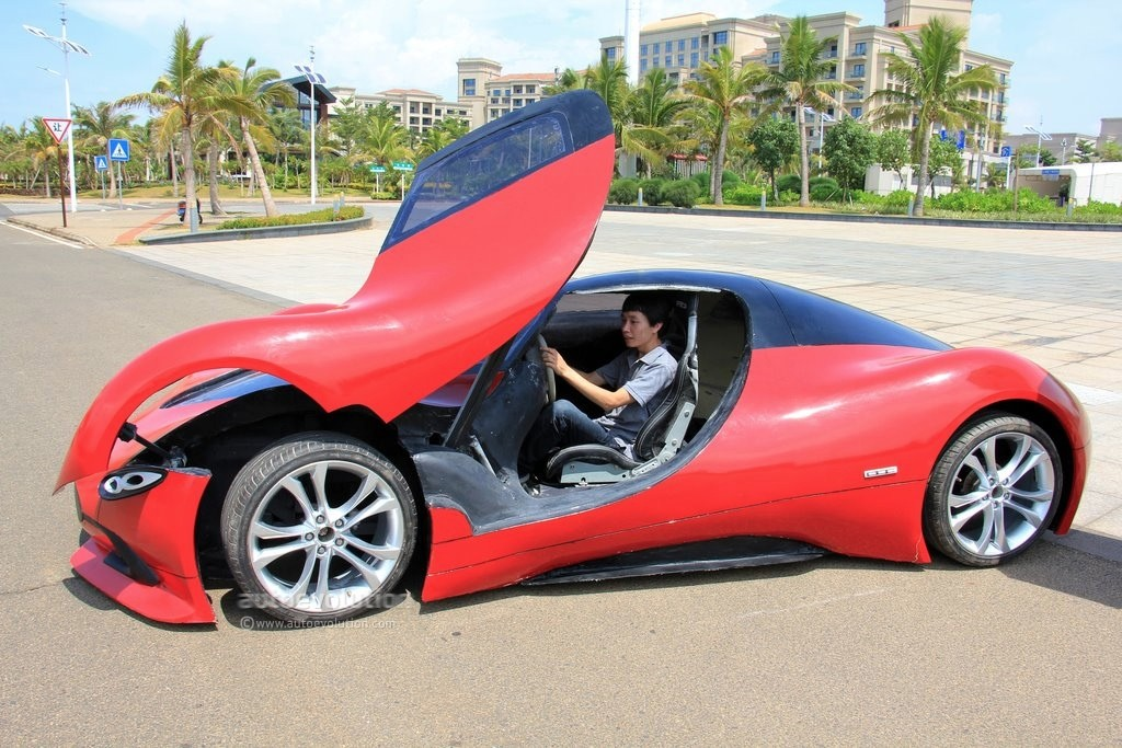 man from china builds electric supercar for 5 000. Black Bedroom Furniture Sets. Home Design Ideas