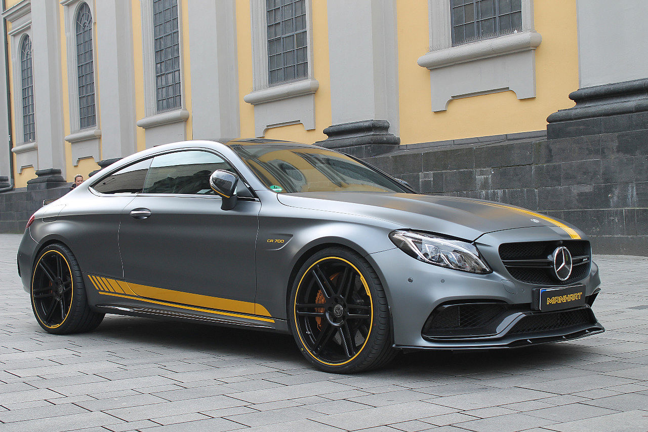 manhart amg c63 s coupe cr700 is brutally loud does 100 to 200 km h in autoevolution. Black Bedroom Furniture Sets. Home Design Ideas
