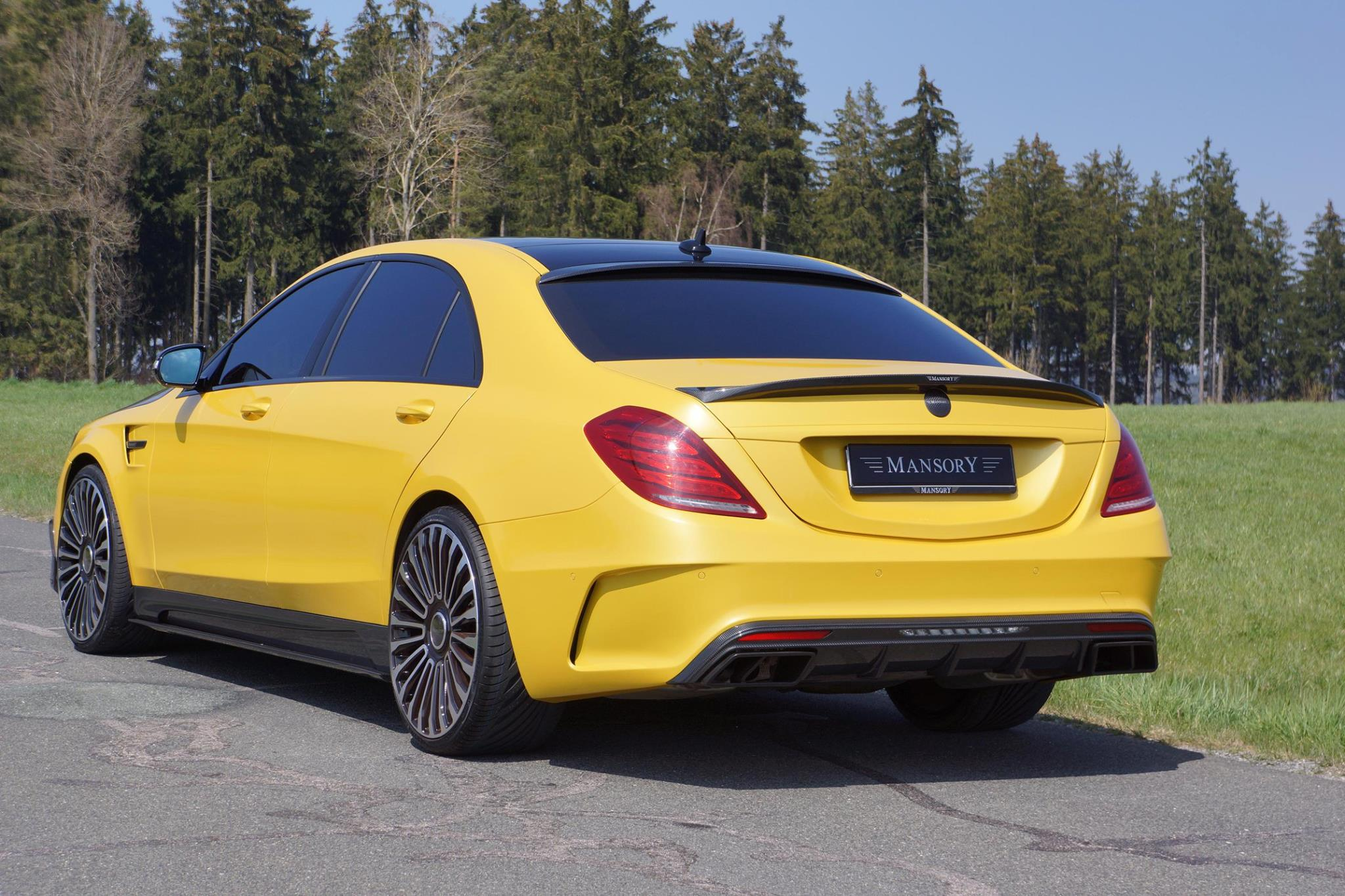 Mansory Mercedes S63 Amg In Yellow And Carbon Fiber Taxi