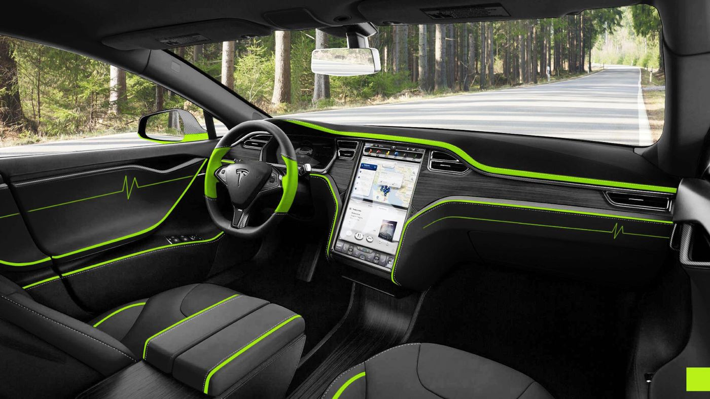mansory to present tesla model s tuning kit in frankfurt their idea of green car is too much. Black Bedroom Furniture Sets. Home Design Ideas