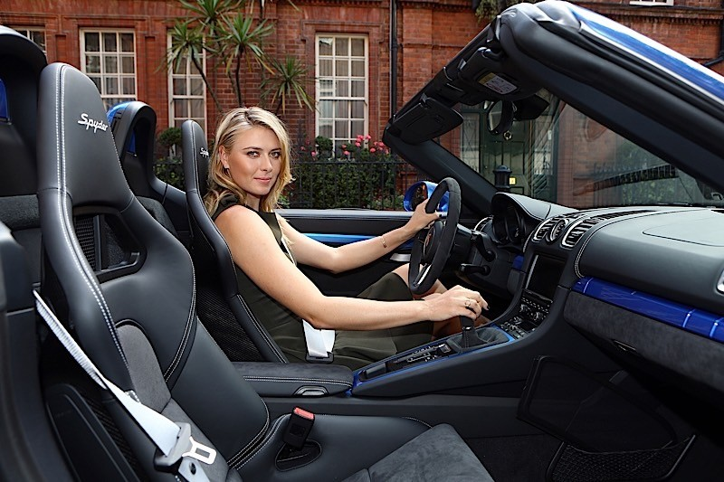 Maria Sharapova Takes A Drive In The New Porsche Boxster