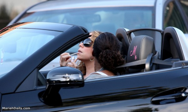 Mariah Carey Spotted In Her New Mercedes Slk Autoevolution