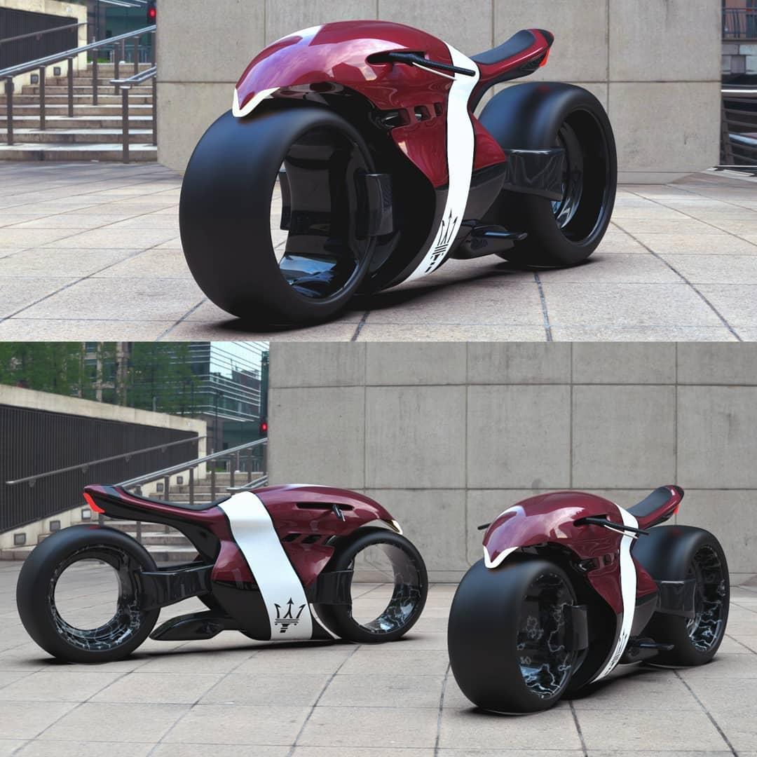 Maserati Electric Superbike Concept Looks Like Alien, Has