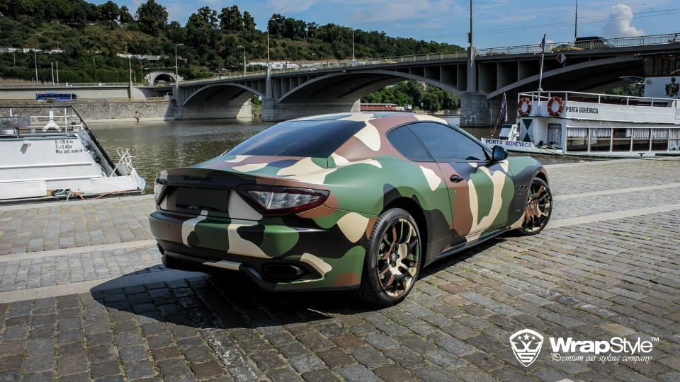 Who Owns Maserati >> Maserati Granturismo S Gets Camo Wrap from WrapStyle - autoevolution