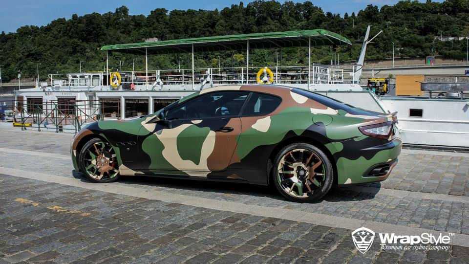 Maserati Granturismo S Gets Camo Wrap From Wrapstyle