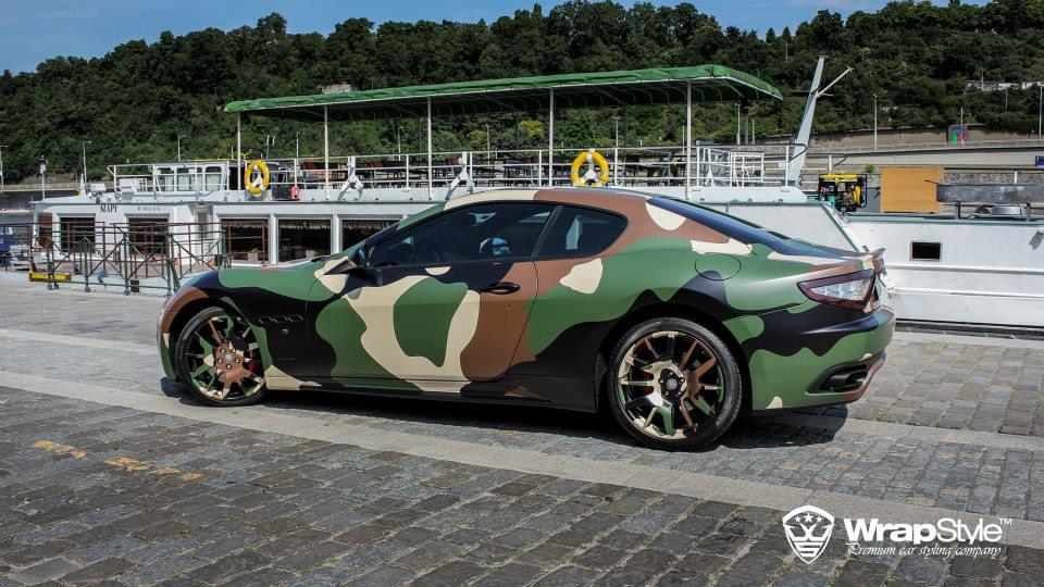 Maserati Granturismo S Gets Camo Wrap From Wrapstyle