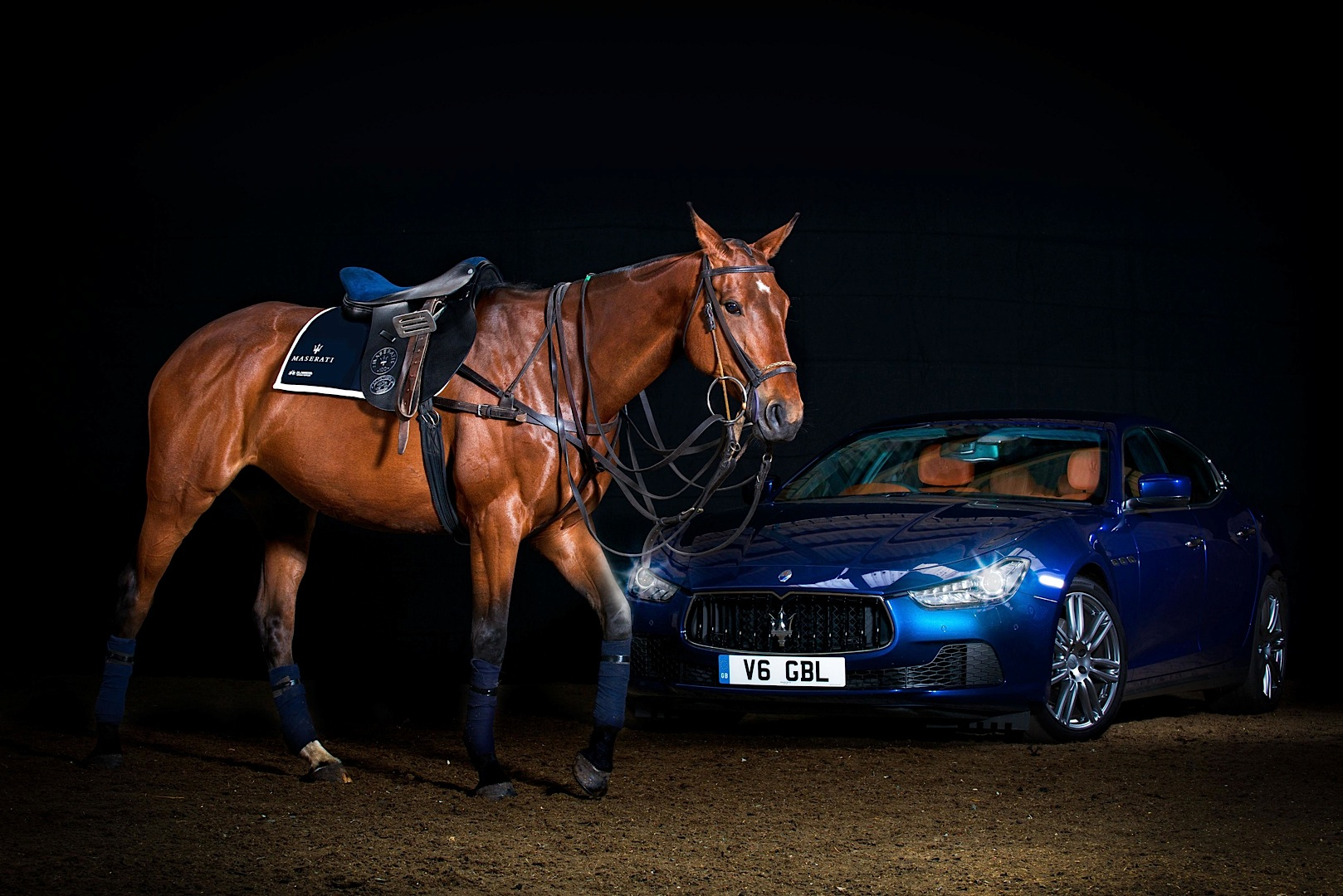 Trident Car Logo >> Maserati Luxury Polo Horse Saddle Is a Thing of Unique ...
