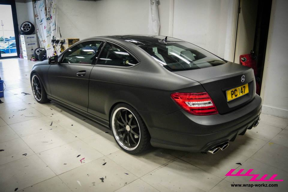 Matte Black C Class Coupe Tries To Fool You Autoevolution