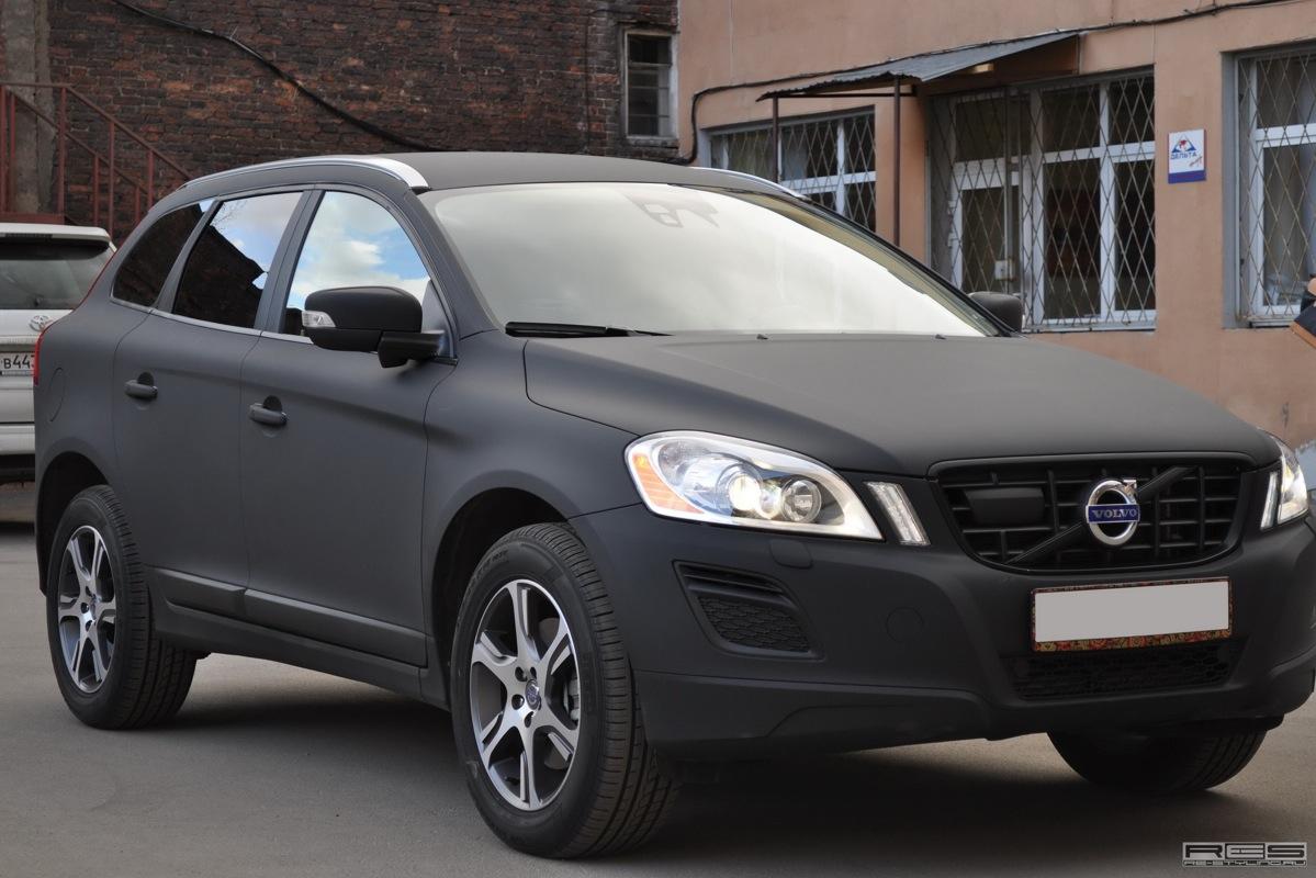 Matte Black Volvo XC60 in Russia - autoevolution