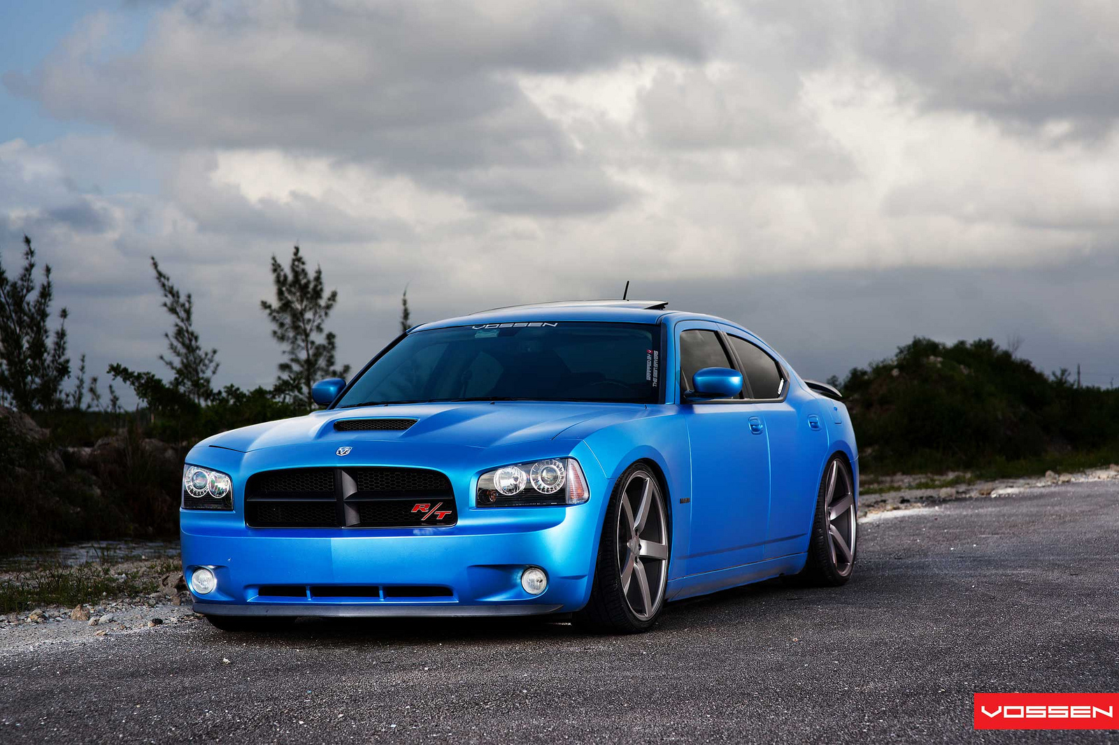 Matte Blue Dodge Charger on Vossen Wheels Is Very Much Alive - autoevolution