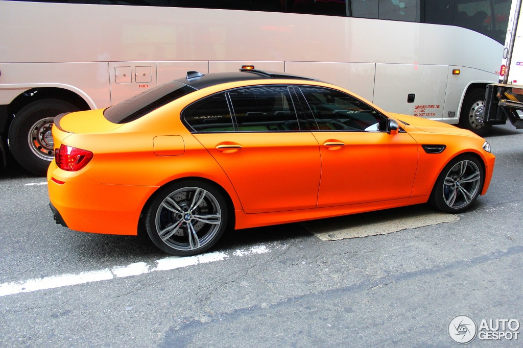 Matte Fire Orange Bmw Lci M5 Spotted In New York