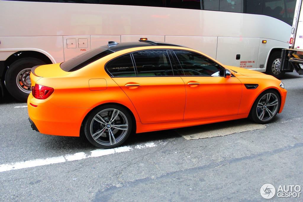 Matte Fire Orange BMW LCI M5 Spotted in New York ...