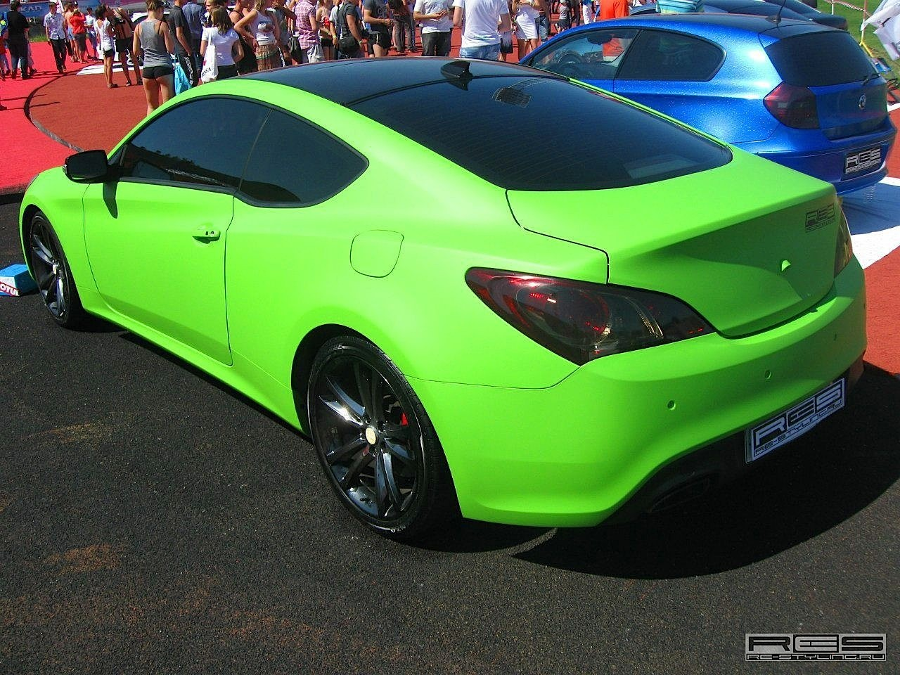 Matte Green Hyundai Coupe Wrapped By Re Styling