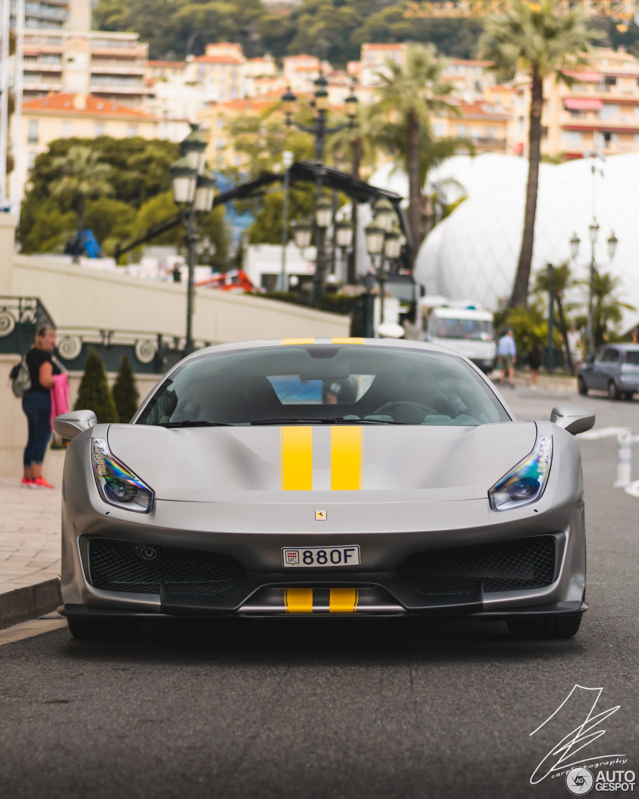 Ferrari Models History Photo Galleries Specs Autoevolution >> Matte Grey Ferrari 488 Pista With Yellow Stripes Is Not A Tame Spec