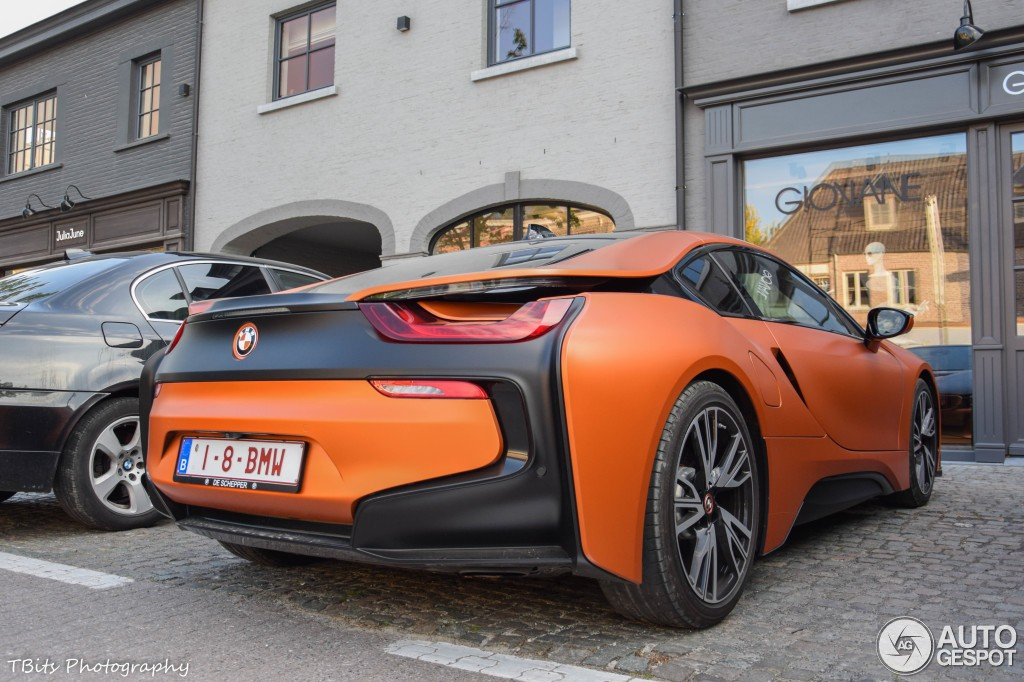 BMW I8 Mpg >> Matte Orange BMW i8 Spotted in Belgium - autoevolution