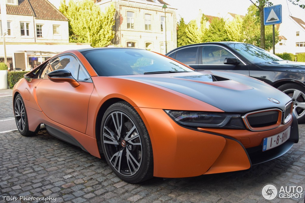 Matte Orange Bmw I8 Spotted In Belgium Autoevolution