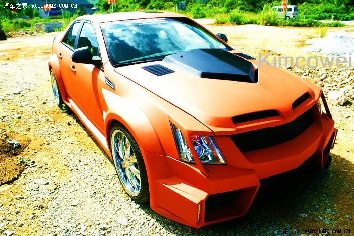 Matte-Orange Cadillac CTS Gets Body Kit of Questionable ...