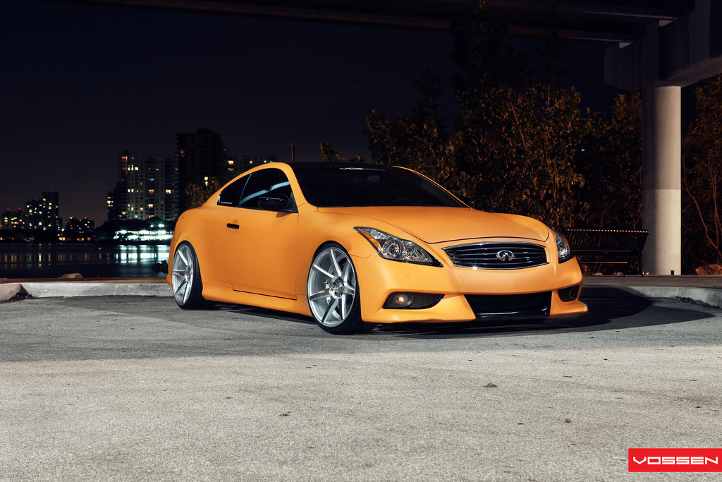 Matte Orange Infiniti G37 On Vossen Wheels Autoevolution