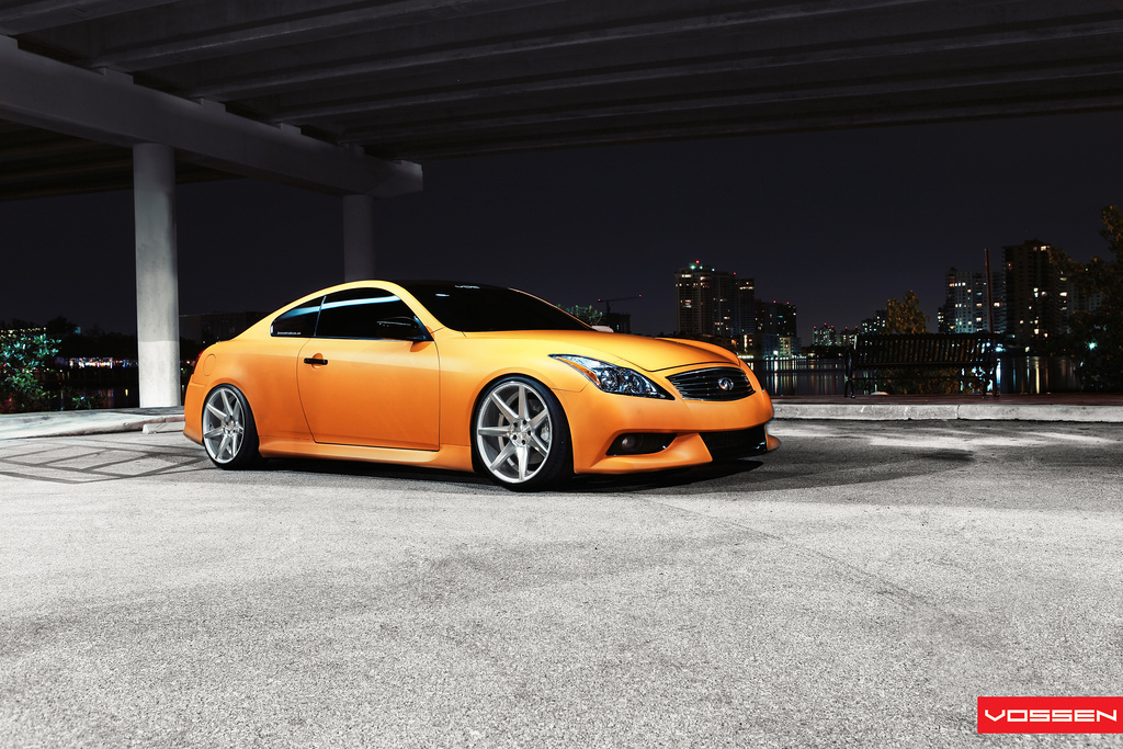 Matte orange infiniti g37 on vossen wheels photo gallery