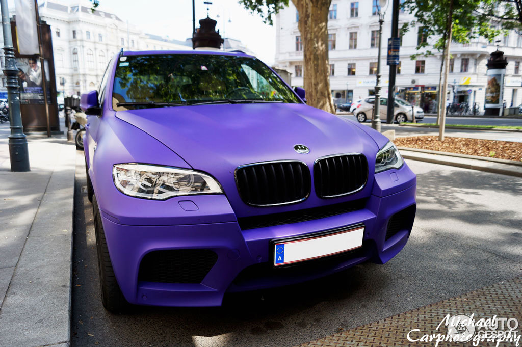 Matte Purple Bmw X5 M Spotted In Vienna Autoevolution
