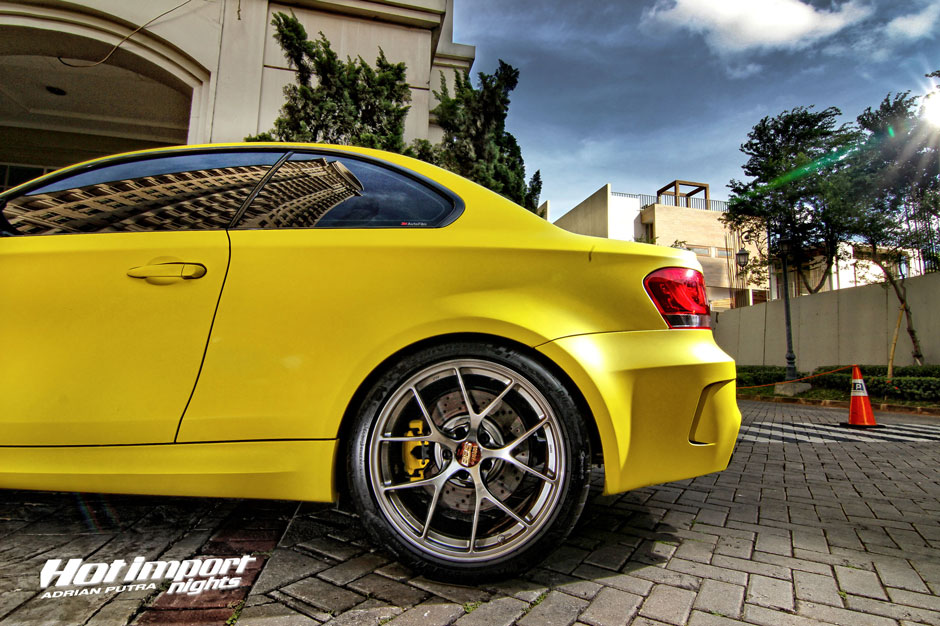 Matte Yellow BMW 1M Coupe Makes Valencia Orange Look Old ...