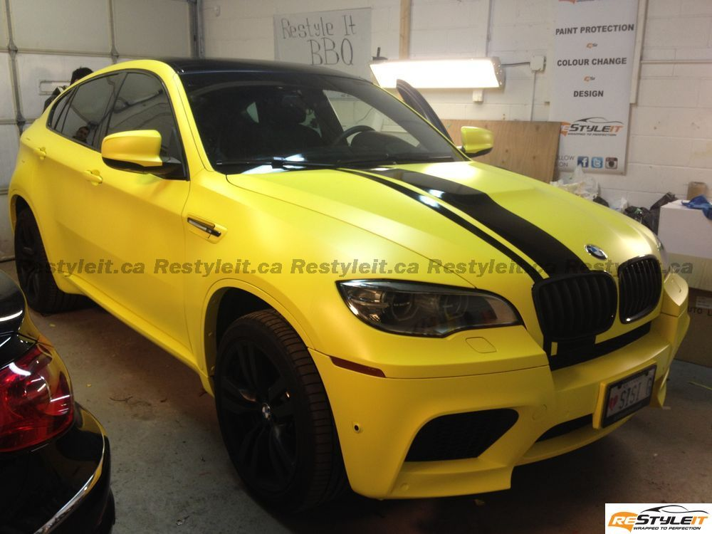 Matte Yellow Bmw X6 M Comes From Canada Autoevolution