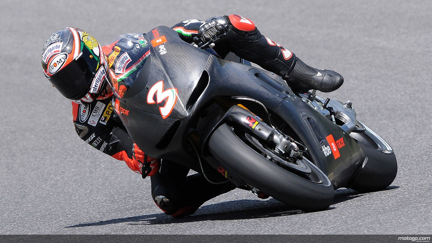 Max biaggi s motogp test over still undecided whether to become official aprilia test rider
