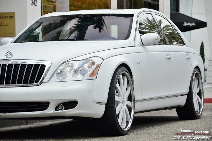 Maybach S In Matte White Rides On Forgiato Wheels Photo Gallery on Kanye West And Jay Z Maybach