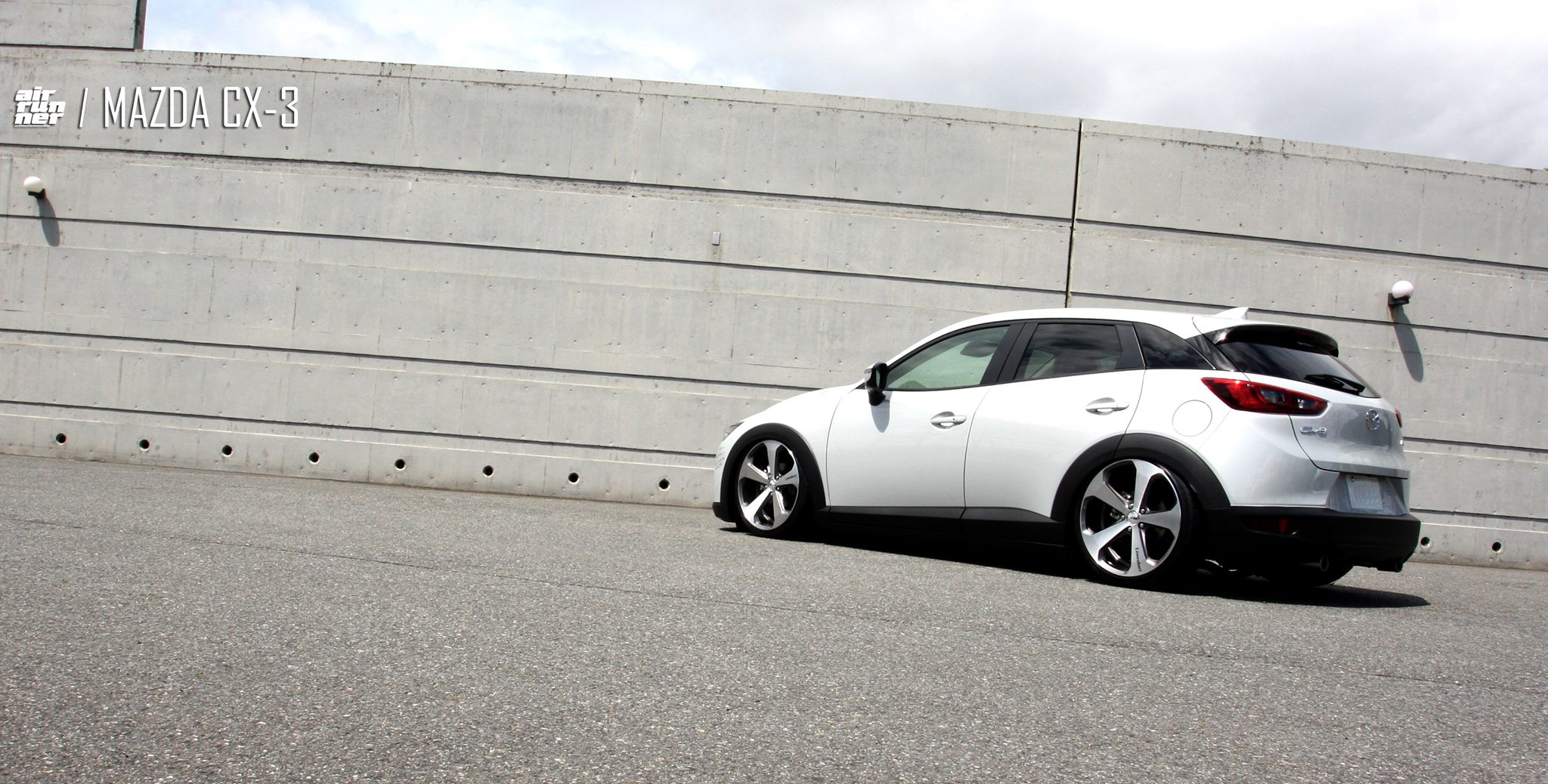 Mazda CX-3 Air Runner Lowered on Lowenhart LV5 Wheels ...