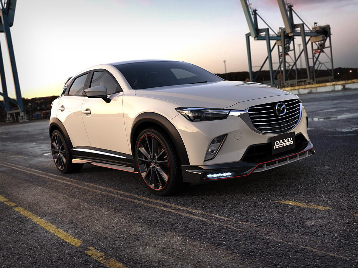 Mazda CX-3 Gets Aggressive Body Kit from DAMD, Looks Like NFS Racer - autoevolution