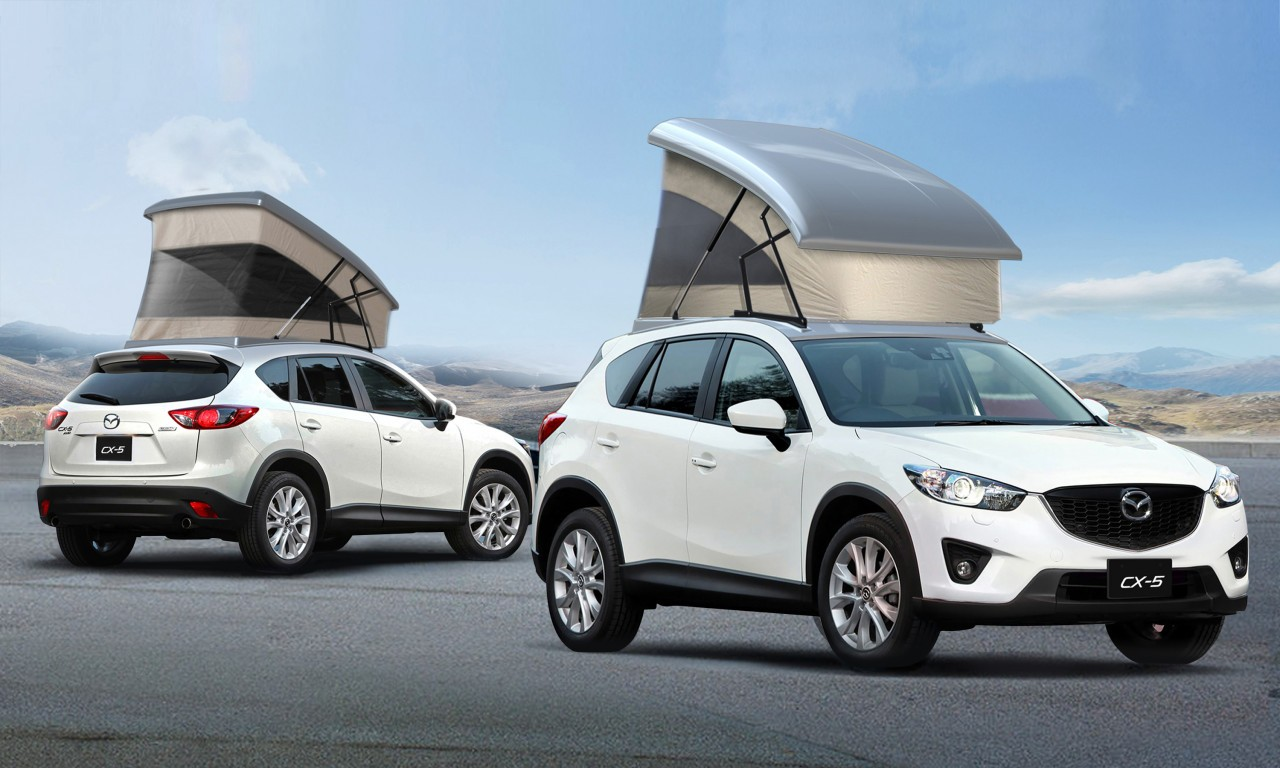 Mazda CX-5 Gets Pop-Up C&ing Tent in Japan ... : pop up roof tent - memphite.com