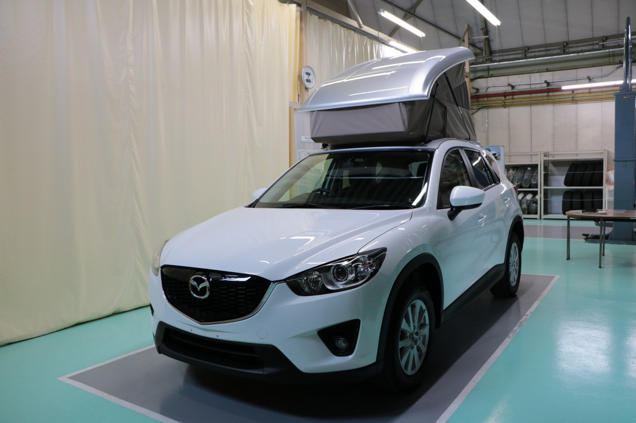 Mazda CX-5 Gets Pop-Up Camping Tent in Japan - autoevolution