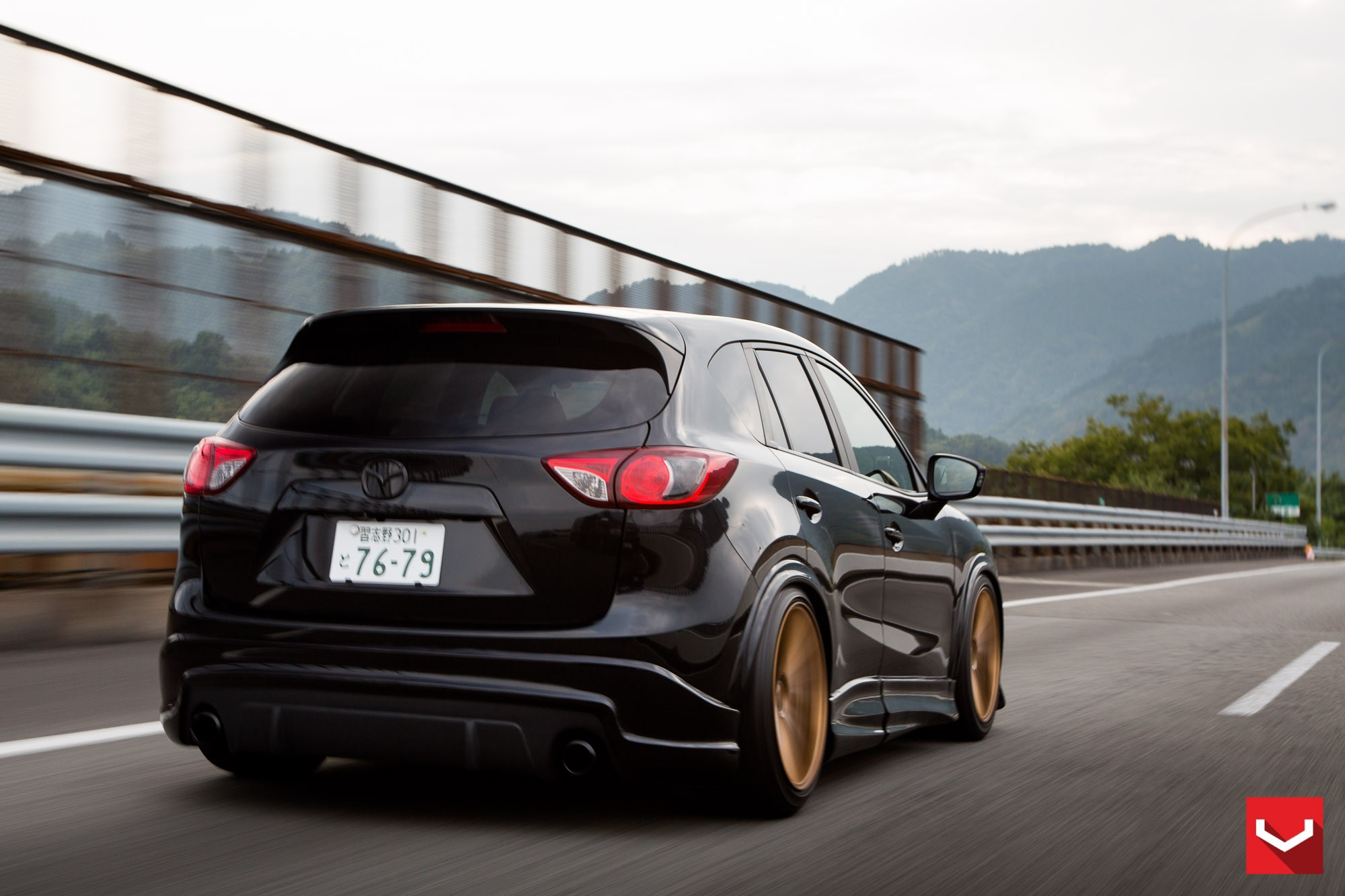 tuningcars mazda cx 5 tuned with vossen wheels and air suspension. Black Bedroom Furniture Sets. Home Design Ideas
