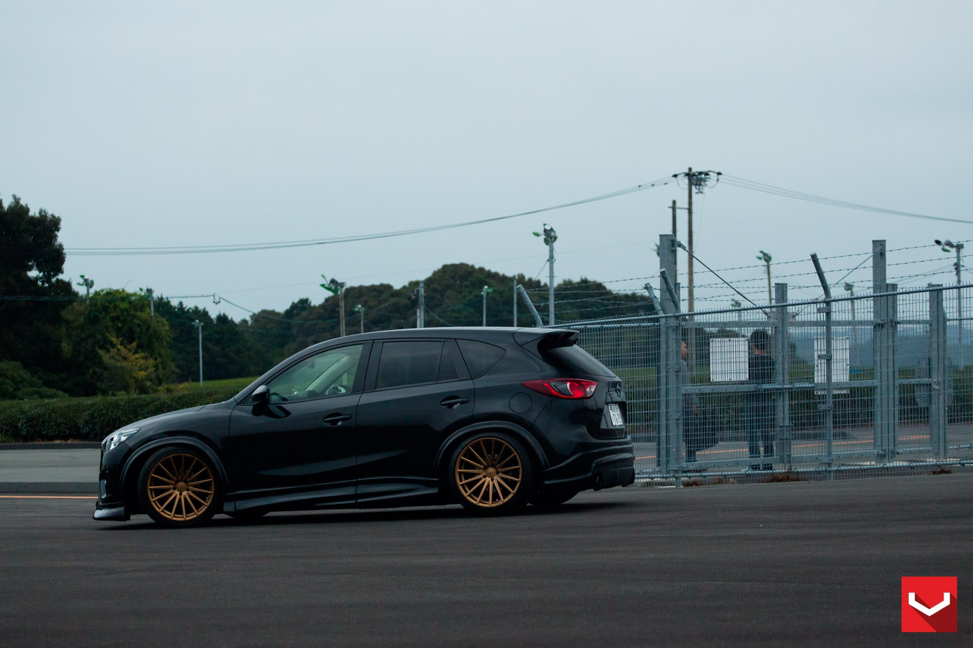 Mazda Cx 5 Tuned With Vossen Wheels And Air Suspension