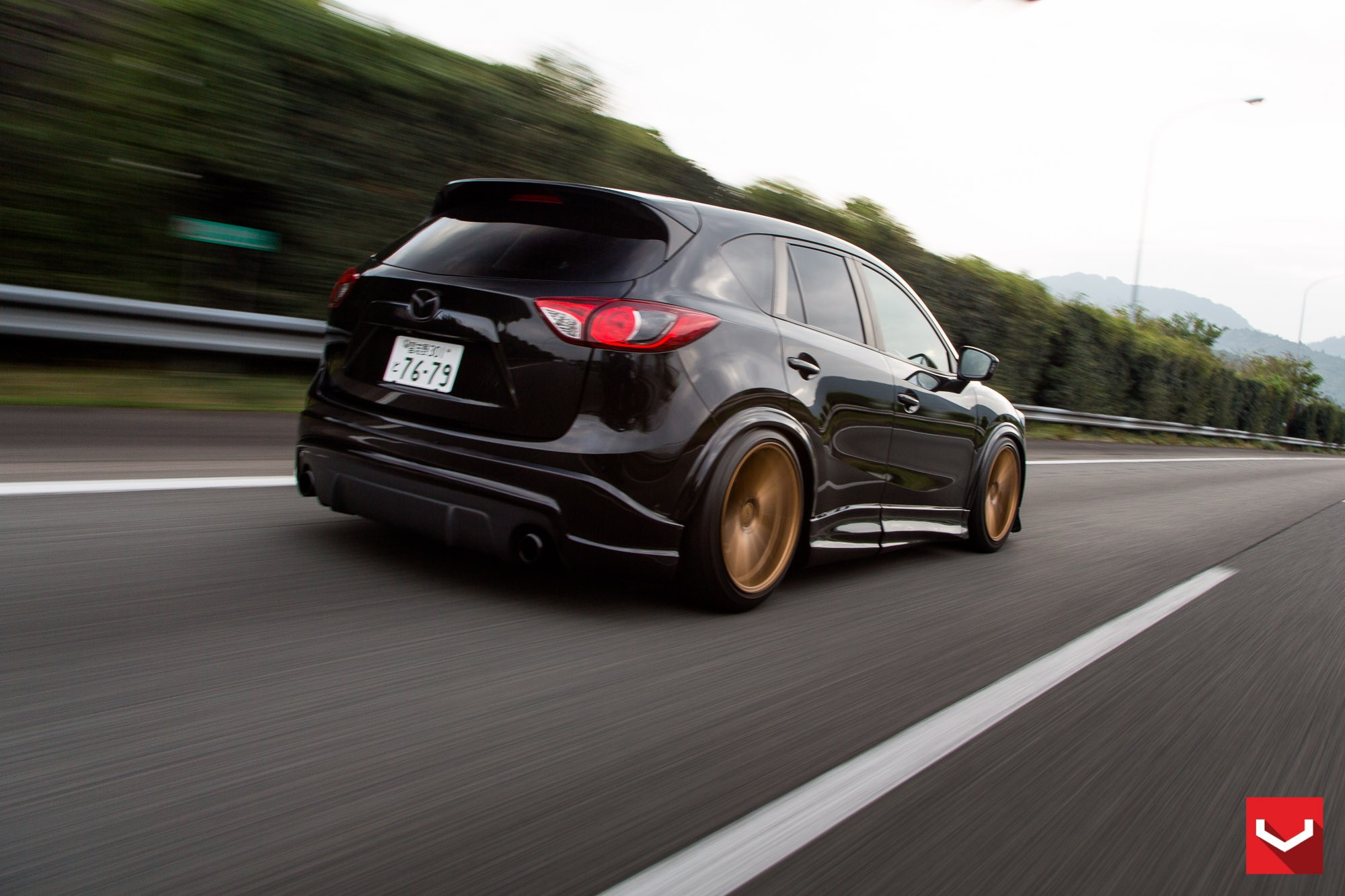 mazda cx 5 tuned with vossen wheels and air suspension. Black Bedroom Furniture Sets. Home Design Ideas