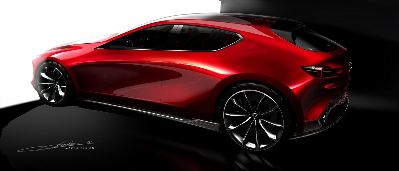 Mazda Kai Concept is the Sexy Mazda3 Preview We Were Hoping For - autoevolution