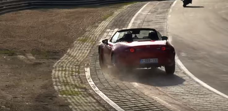 Mazda Miata Nurburgring Near Crash Is a Racing Line Lesson