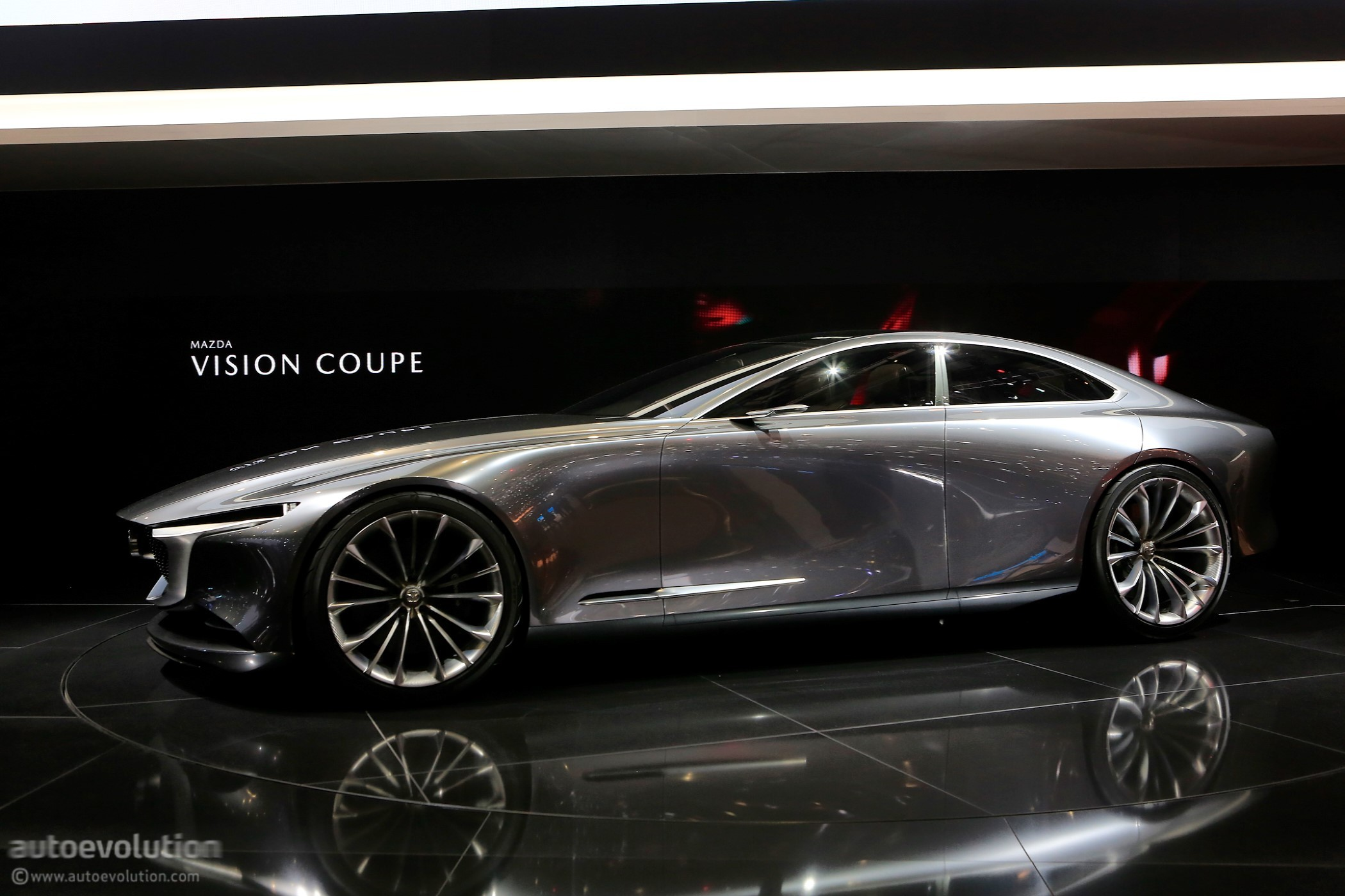 mazda vision coupe makes european debut in geneva looks stunning autoevolution. Black Bedroom Furniture Sets. Home Design Ideas