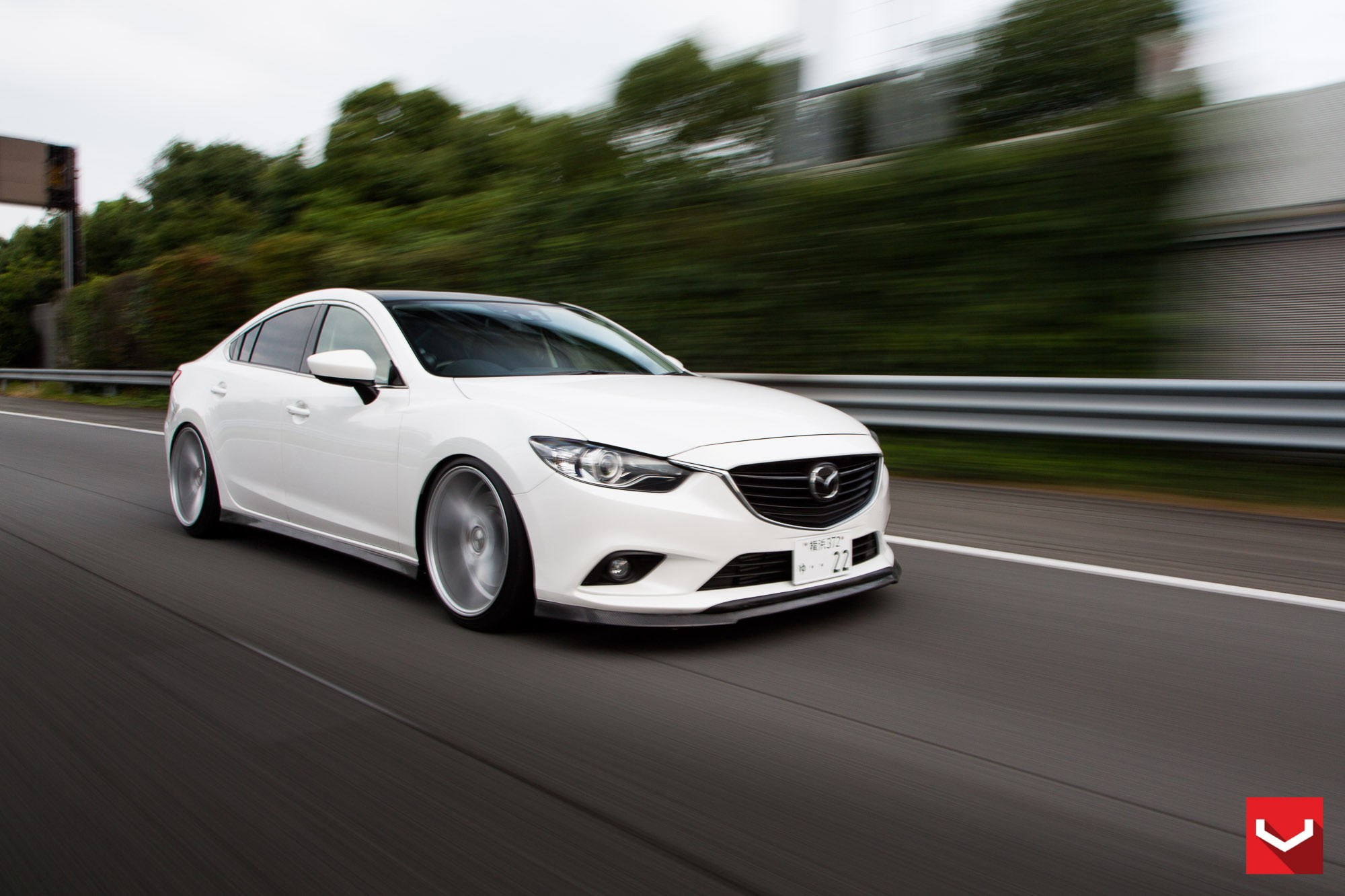 Mazda6 Gets Custom Vossen Wheels And Carbon Fiber Trim