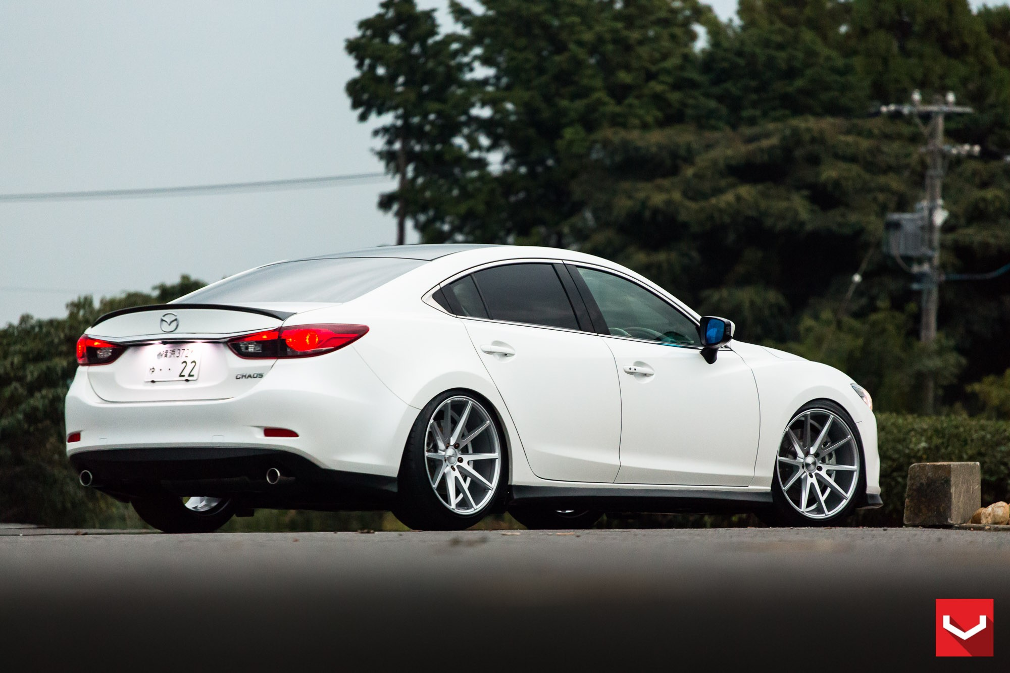 Mazda6 gets custom vossen wheels and carbon fiber trim autoevolution