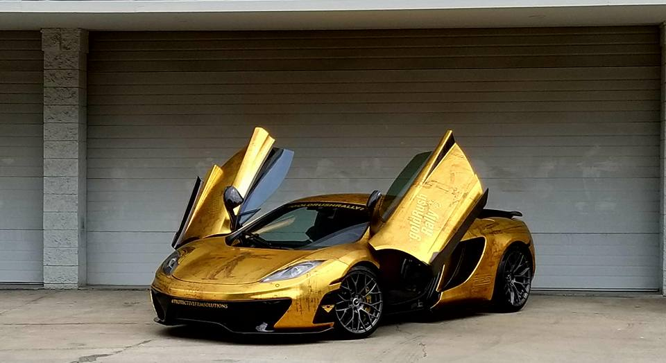Mclaren 12c Gets Leonardo Da Vinci Gold Wrap Still Not A