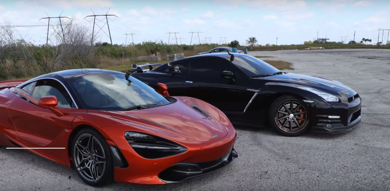 mclaren 720s vs 830 hp nissan gt r drag race is not evenly matched autoevolution. Black Bedroom Furniture Sets. Home Design Ideas