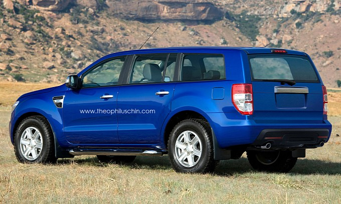 ford everest rendering 3 photos