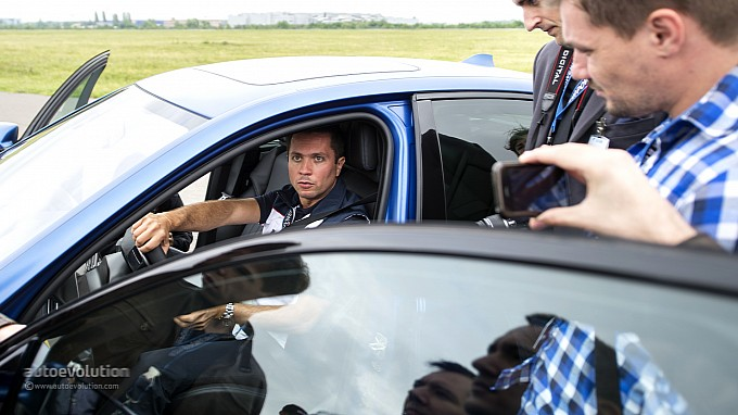 Claudiu David in action at BMW Driving Experience